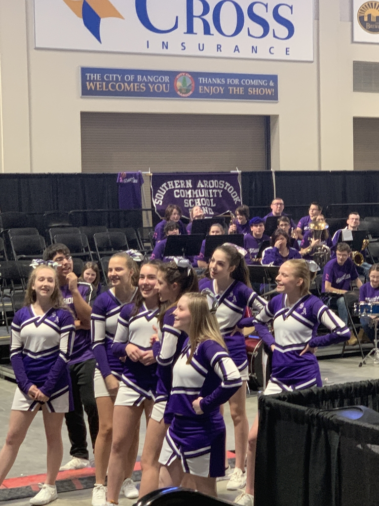 Cheerleaders leading the crowd in a cheer!