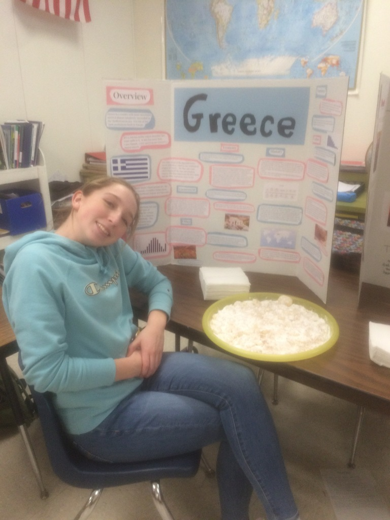 Sacs Student at Geography Fair