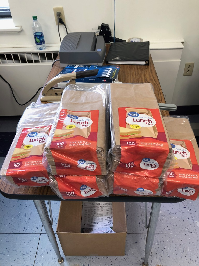 Donated lunch bags