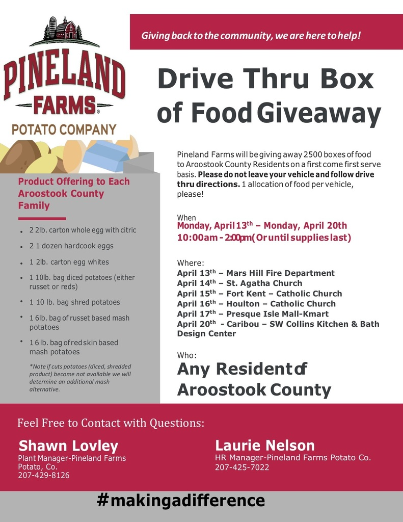 Pineland Farms Fyler-Food Giveaway