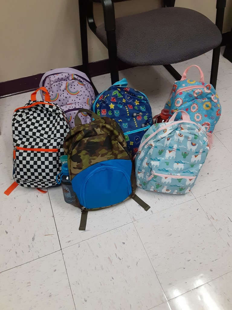 Donated School backpacks